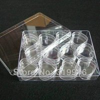 arts crafts organizer - Set mlx12pc unique Plastic Jewelry Tools Box Case Craft Organizer Storage Beads nail art storeage bottles