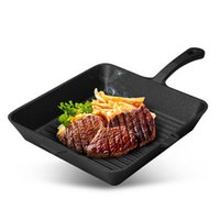 Wholesale HOT SALE Non stick cookware cast iron pan steak frying pan high quality ECO Friendly uncoated