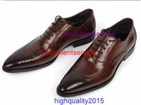 alligator shoes - highquality2015 men shoes oxfords top quality brown black cowhide genuine leather men shoes alligator shoes mens