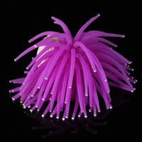 Wholesale FS Hot Aquarium Fish Tank Sea Artificial Fake Coral Ornament Purple order lt no track
