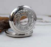 antique white round table - The new large gold face pocket watch White steel necklace vine floral jewelry Korean sweater chain fashion fashion table