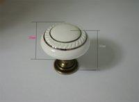drawer pull - Chrome Zinc Alloy Bass White Ceramic Cabinet Knobs Kitchen Door Knobs Drawer pulls gold drawer pulls