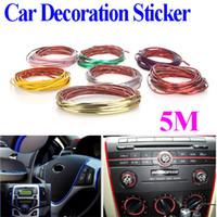 auto body decoration stickers - 5M Car Auto Decoration Sticker Thread indoor pater Car Interior Exterior Body Modify Decal Colors Drop Shipping