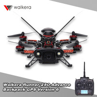 Wholesale Walkera Runner Advance Backpack Version RTF RC Drones with TVL Camera and DEVO OSD GPS RC Quadrocopter RM4232