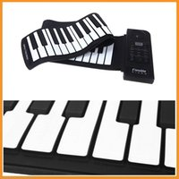 Wholesale Brand New Key Electronic Piano Keyboard Silicon Flexible Roll Up Piano Sustain Function USB Port with Loud Speaker
