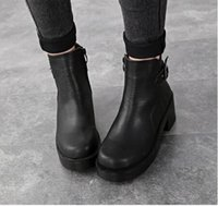 work boots - 2015 women work boots chic buckles add plush ankle boots heels platform boots sexy winter boots martin boots tactical boots