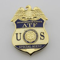 atf type - The United States Bureau of Alcohol Agents ATF Metal Badge High quality Copper Metal Badges For Collection