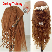 Wholesale Quality Training Mannequin Head Dummy with Natural Hair Haridressing Model Head With Clamp Holder