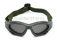 Wholesale Sports Safety Goggles Green Shock Resistance Metal Mesh Glasses Outdoor Sports Protect Eyes Drop Shipping TK1183