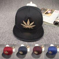 Wholesale 2015 Hiphop Snapback Baseball Hat European and American Maple net influx of people flat brimmed hat hip hop hat hip hop street