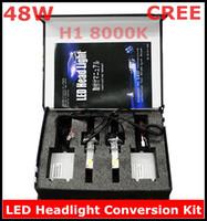 Wholesale New CREE LED Headlight Conversion Kit H1 W K Watt LEDs Lamp