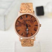 Women's wood watches wholesale - 10PCS Newest Style Fashion Simulated Wood Grain Watch High grade PU Leather Lady Fashion Quartz Watch High Quality