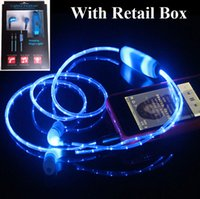 android usb microphone - 10pcs Hot Sale Headphones Led Headset Luminous Earphone Glowing led Headphones MIC mm USB Rechargable For Iphone Android