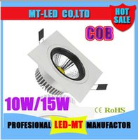 Wholesale x50 Newest COB W W Led Square Downlights Recessed Lights Lumens Warm Cool White Dimmable Led Fixture Ceiling Lights V