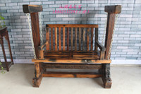 Wholesale Old wooden boat original ecological wood mahogany rocking chair swing chair Toy chair lounge chair love seat swing chair