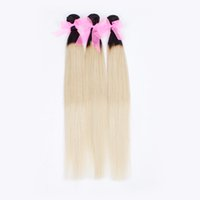 Cheap Brazilian Ombre Hair Extensions Straight Two Tone Human Hair Weave Mix 4pcs Straight Ombre Hair Human Color 1B 613