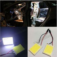 best acura - 100pcs HID White COB Panel Light For best Car Interior Door Trunk Map Dome Light