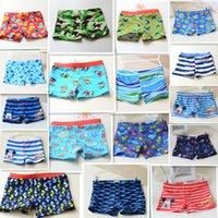 Cheap 2015 girls beach swimming trunks 16 models kids boy seafish stripe elastic cute pants baby swim wear beach clothing J052102#