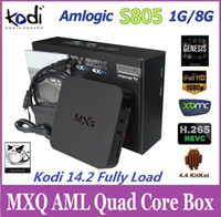 Wholesale Hi Q Original MXQ TV BOX Amlogic S805 Quad Core Android Kodi Kitkat K Pre installed GB GB XBMC WIFI Airplay Miracast D