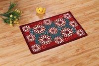 area flowers - 10pcs area rug floor carpet new rainbow flower medley printing polyester mat mat mats doormat kitchen mats
