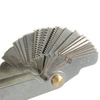Wholesale Screw thread pitch cutting gauge tool set centre gage degree Inch Metric New Arrival
