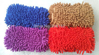 Wholesale Ultrafine Fiber Chenille Anthozoan Car Wash Gloves Sponges Brushes