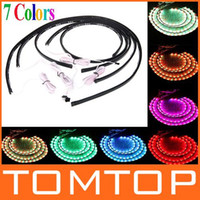 Wholesale 36 quot quot Colors Wireless Remote Music Activated RGB car LED Strips Car Decorative Light Underbody Neon Lights Kit