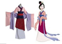 adult mulan costumes - Custom made adult mulan costumes Hua Mulan Costume cosplay Princess Mulan Dress Movie halloween costumes for women Plus Size