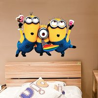 Wholesale cartoon wall stickers Despicable me sticker for home decoration kids wall decorative children room DHL free