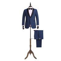 100% wool suits - Custom Made Groom Tuxedos wool Suit Notch Lapel Groomsman Men Wedding Suits Jacket Pants