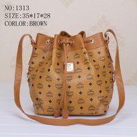 Wholesale MCM leather women handbags Fashion Shoulder Bags brand tote bags designer purses Bucket bag Shopping bags