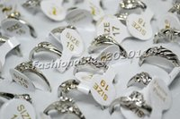 Cheap Ring Jewelry Lot 20pcs CZ & Silver P Rings Crystal Rings Rhinestone Jewelry Fashion Rings Jewelry[r0210*20]