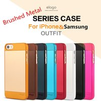 apple outfit - Elago Outfit Cases for iphone S S G G Plus Samsung S3 S4 S5 Note Note Brushed Metal and Matte Style Dual Color with OPP Bag US06