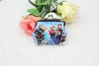 Wholesale Girls D Cartoon Frozen Coin Purse with iron button Anna Elsa shell bag wallet Purses children child Gifts For Holidays Christmas