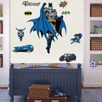 Wholesale Fashion Removable Vinyl Nursery Home Decals Hero Batman Wall Stickers Art