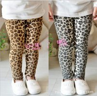 Wholesale 2016 new Children Girls Classic Leopard Leggings long pant Tights trousers