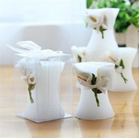 Wholesale European Style Wedding Candle Valentine s Day White Candle Roses Candle Creative Fashion Candle AF541
