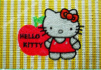 Wholesale 2015 new fashion design cute hello kity colored Full Acrylic diamond paste laptop skin crystal sticker pieces
