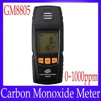 Wholesale CO Monitor Hand held portable carbon monoxide meter tester CO gas detector GM8805 free