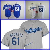 beckett new jersey - 2015 New Cheap Los Angeles Dodgers Jersey Josh Beckett Jersey White Blue Gray Men s Baseball Jersey Embroidery Logo