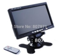 "Cheap 2 x CCD REVERSING CAMERA + 7"" LCD MONITOR WIRELESS BACKUP SYSTEM REAR VIEW KIT for bus car"