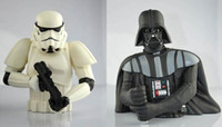 bank star wars - EMS Star Wars Stormtrooper Figure plastic figure Money Saving Darth Vader PCV Coin Bank Box Eating money pot Stealing money tank