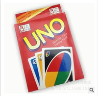 Wholesale 2015 UNO Poker Card Family Fun Entermainment Board Game Standard Edition Kids Funny Puzzle Game Christmas Gifts R1250