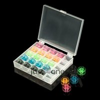 Wholesale 25 Grid Clear Storage Case Box With Sewing Machine Empty Colorful Bobbins Spool for Brother Janome Singer Elna