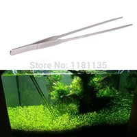 Wholesale 27CM Aquarium Plant Shrimp Reef Tank Straight Tweezer Stainless Steel