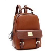Wholesale Cheap Products High Quality and Large Pocket Size Ladies Leisure Backpack womens cute PU leather school bags