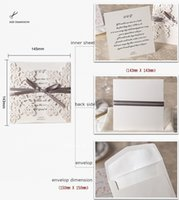Wholesale 2015 Hot Sale White Hollow Flowers Wedding Invitation Card with Envelopes Wedding Favors Printable Cards