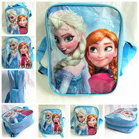 aaa quality handbags - 2015 AAA quality blue kid boys girl cartoon bag school bag single snacks backpack lunch bag birthday christmas gift handbag TOPB971