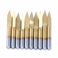 Wholesale 10x Titanium Coated Carbide PCB Engraving CNC Bit Router Tool Degree mm mm