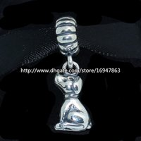 bead buddy - 100 S925 Sterling Silver Buddy Dangle Charm Bead Fits European Pandora Jewelry Bracelets Necklaces Pendant